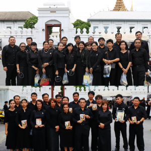 RPS staff pay their respects to the body of the late King Bhumibol Adulyadej